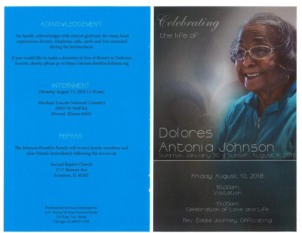 Dolores Antonia Johnson Obituary