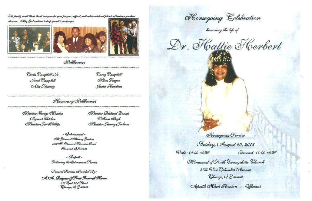Dr Hattie Herbert Obituary