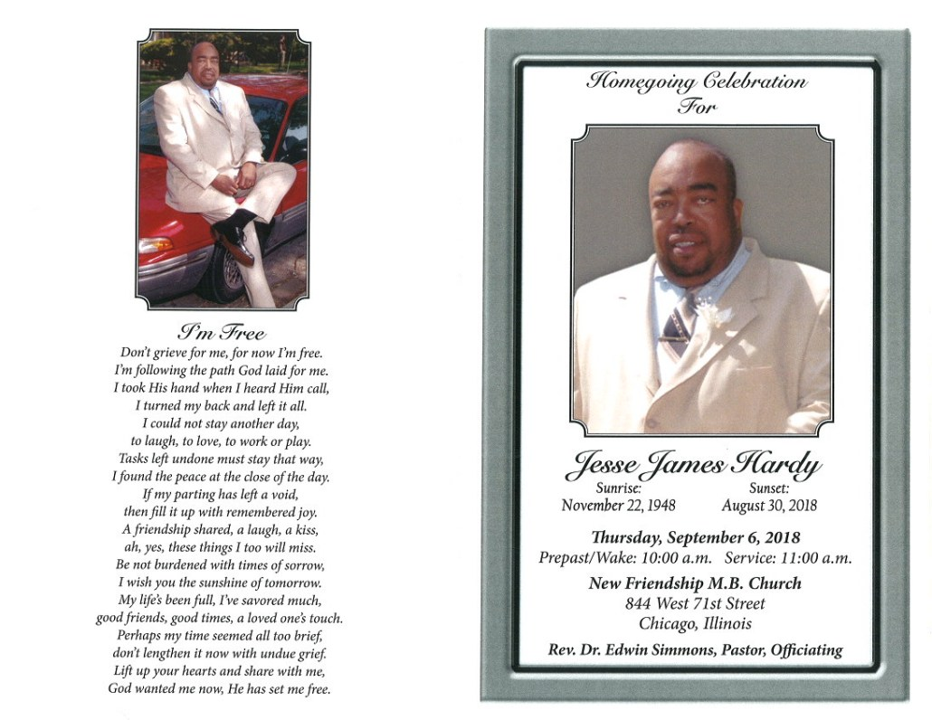 Jesse James Hardy Obituary