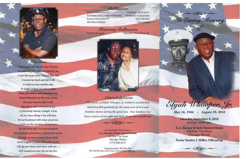 Elijah Whooper Jr Obituary
