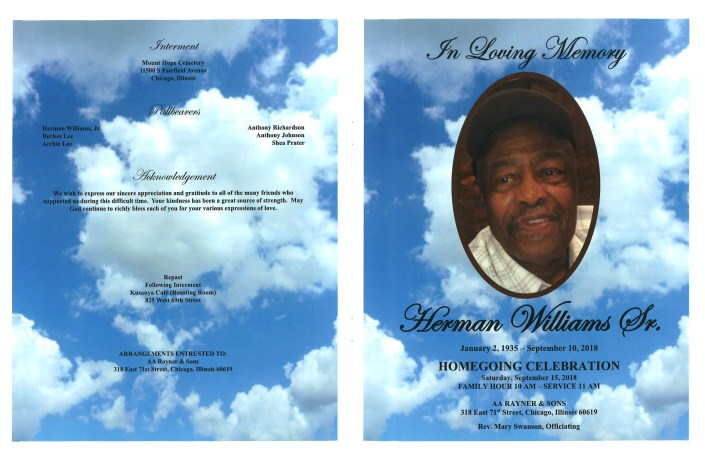 Herman Williams Sr Obituary