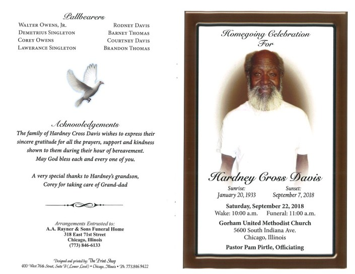 Hardney Cross Davis Obituary