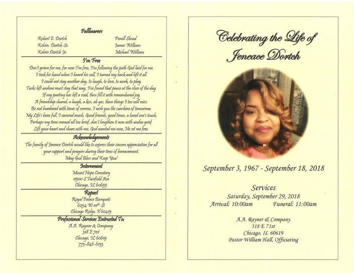 Jeneace Dortch Obituary
