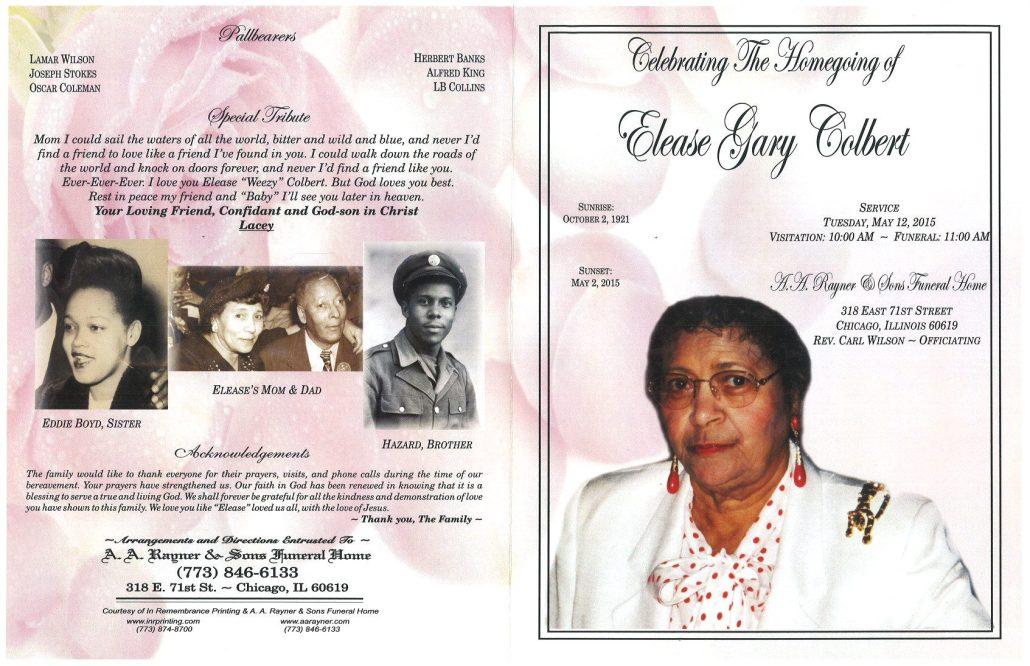 Elease Gary Colbert Obituary