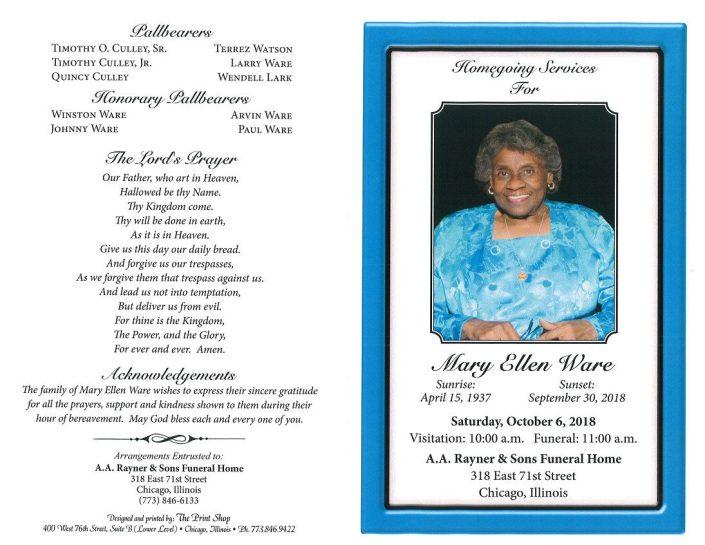 Mary Ellen Ware Obituary
