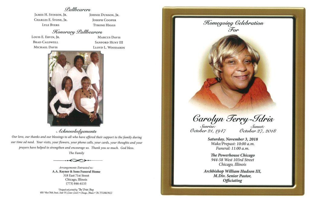 Carolyn Terry Idris Obituary