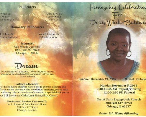 Doris White Baldwin Obituary