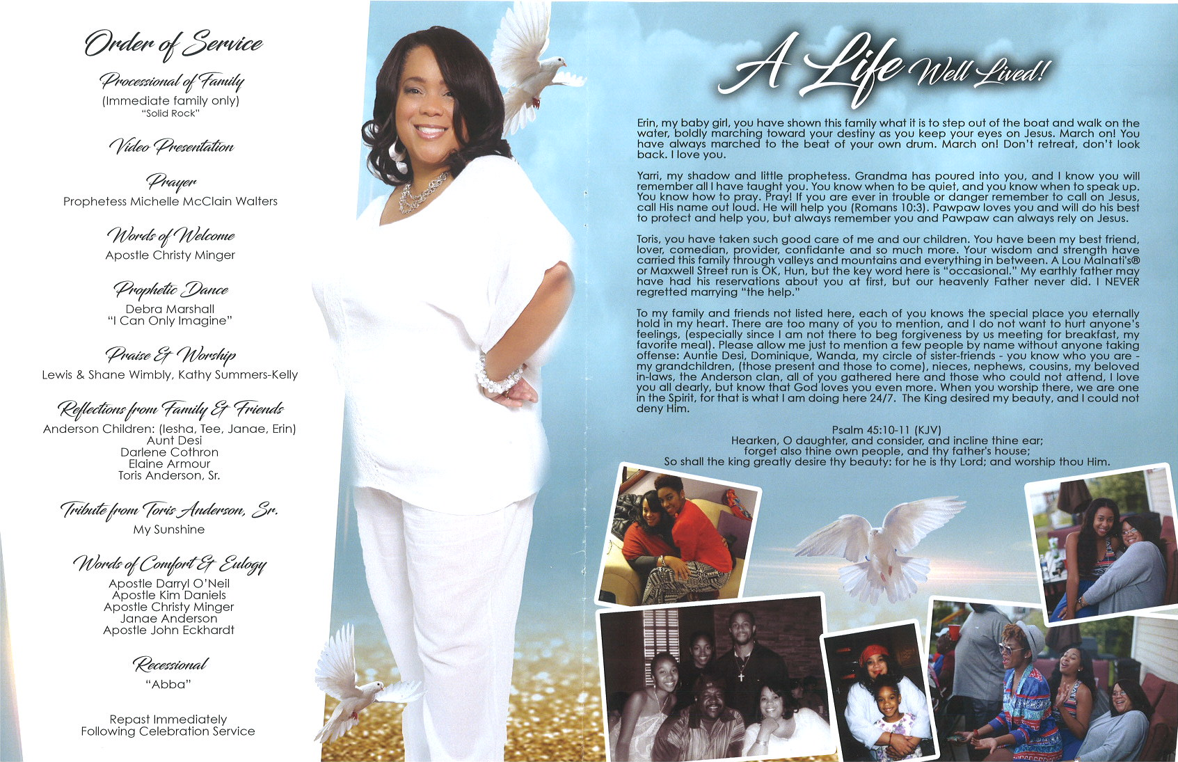 Antoinette D Anderson Obituary | AA Rayner and Sons Funeral Home