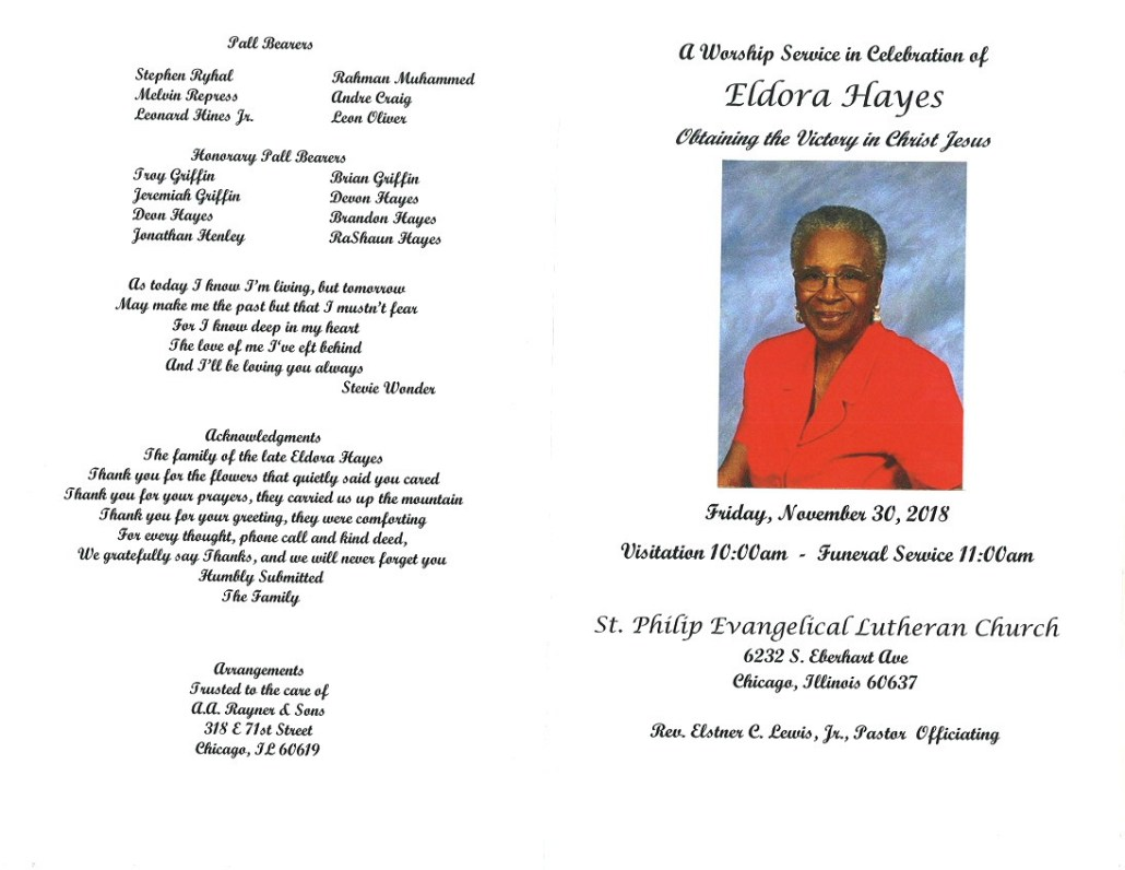 Eldora Hayes Obituary