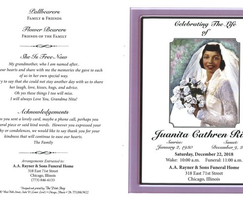 Juanita Cathren Riley Obituary
