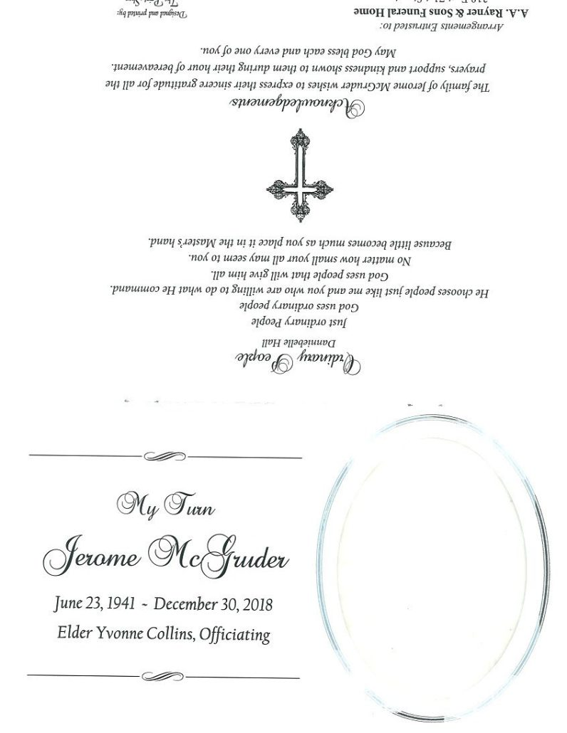 Jerome McGruder Obituary
