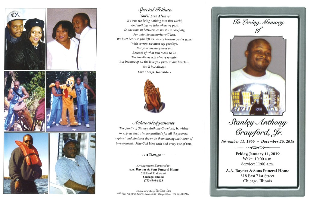 Stanley Anthony Crawford Jr Obituary