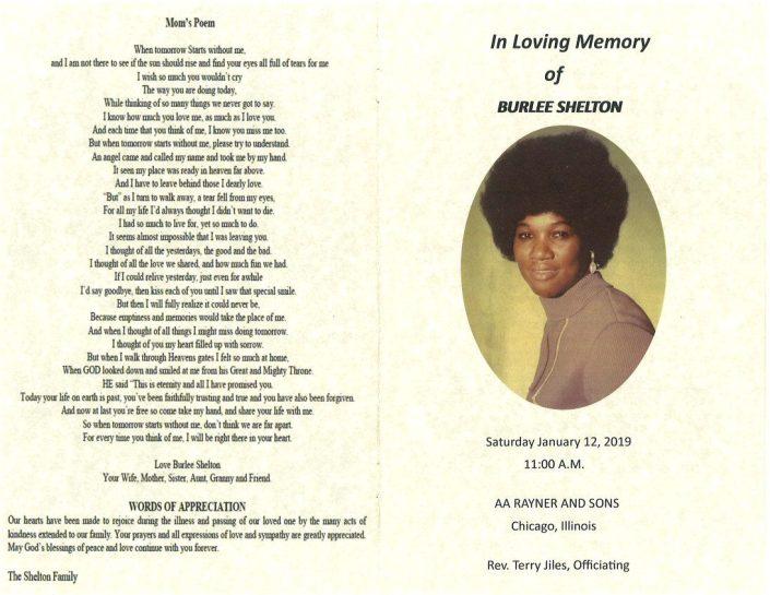 Burlee Shelton Obituary