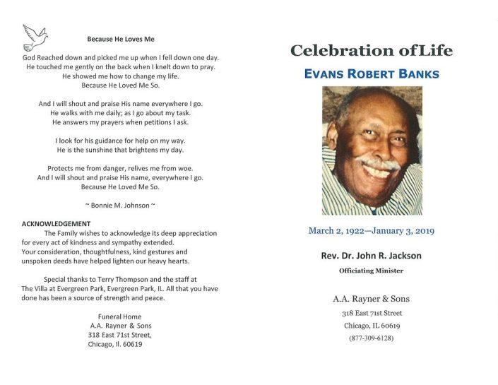 Evans Robert Banks Obituary