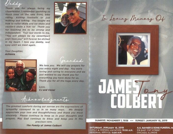 James Tony Colbert Obitaury