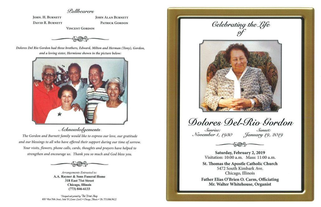 Dolores Del Rio Gordon Obituary