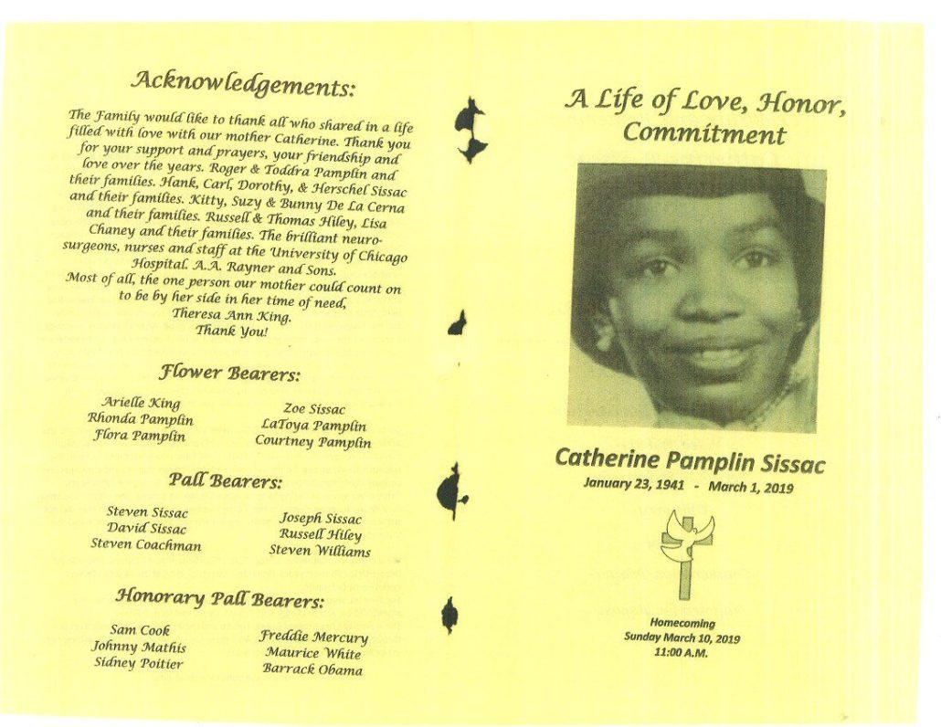 Catherine Pamplin Sissac Obituary