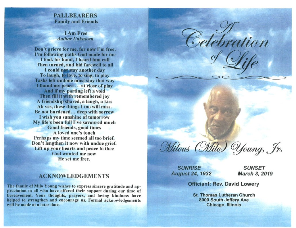 Milous Milo Young Jr Obituary