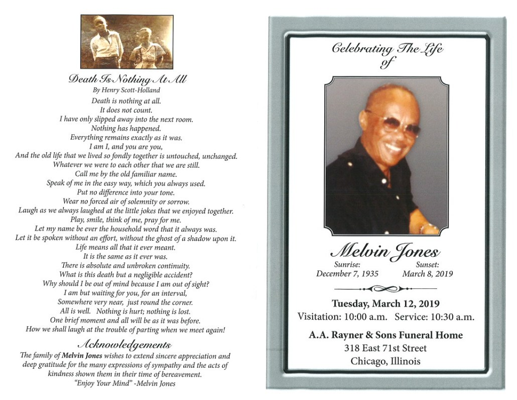 Melvin Jones Obituary
