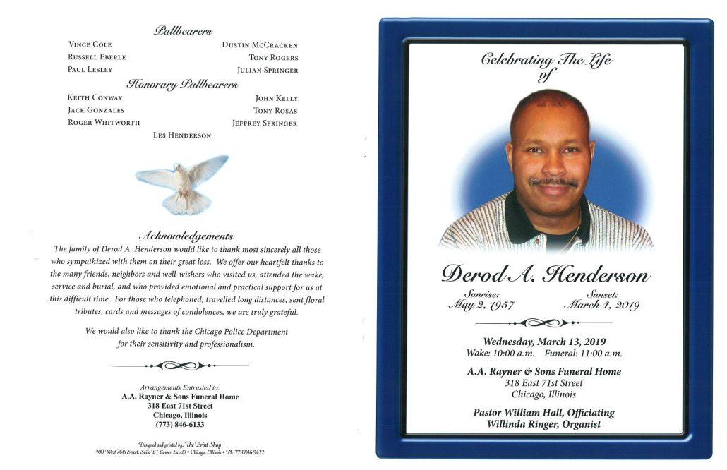 Derod A Henderson Obituary