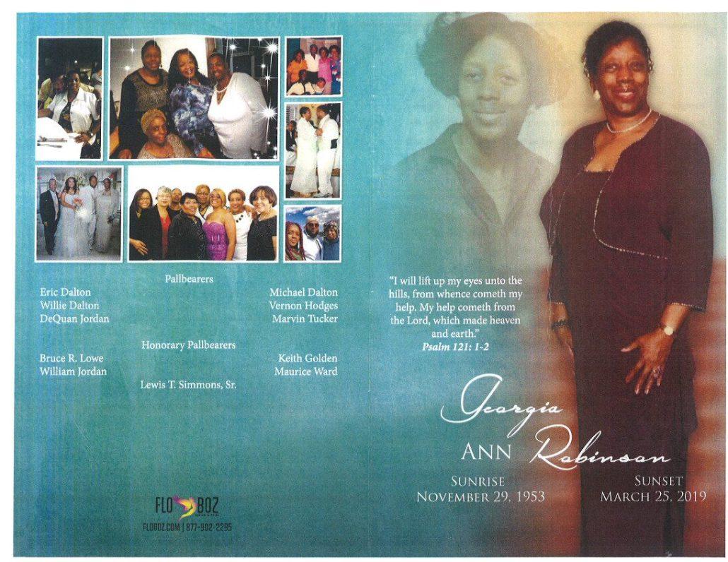 Georgia Ann Robinson Obituary