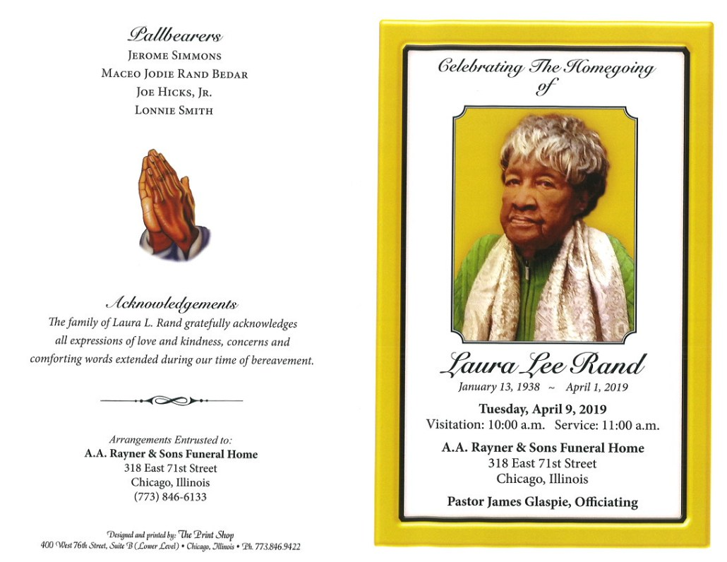 Laura Lee Rand Obituary