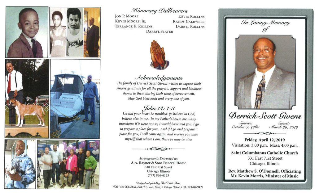 Derrick Scott Givens Obituary