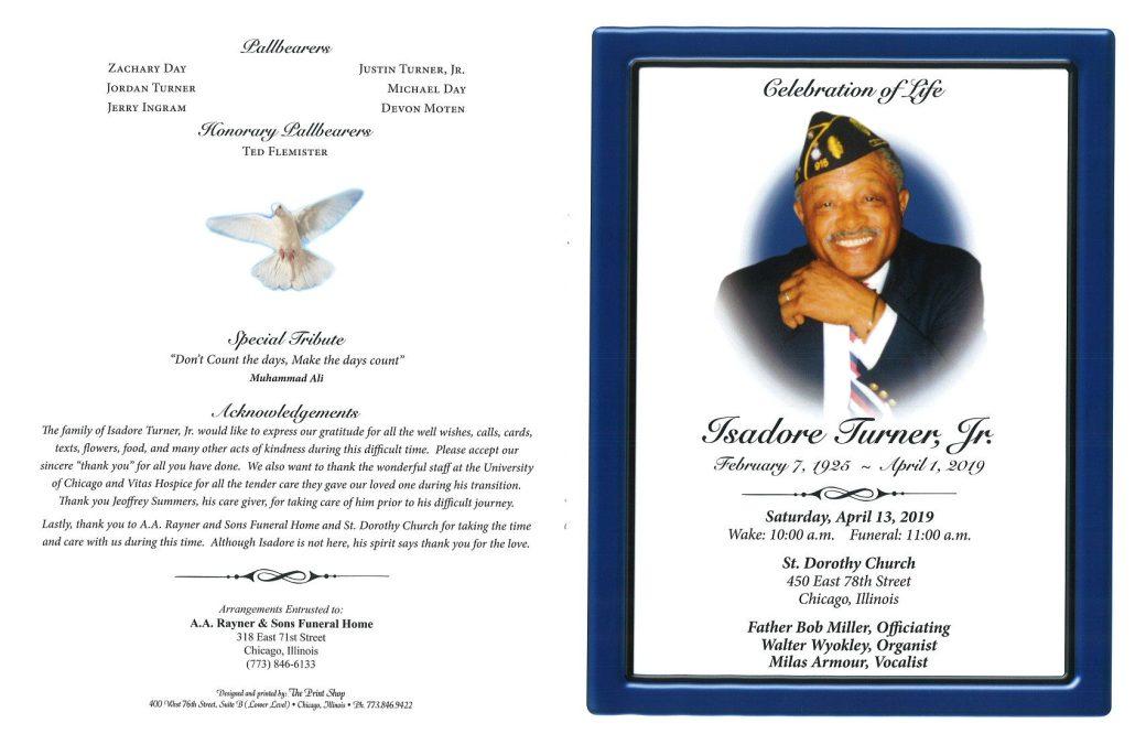 Isadore Turner Jr Obituary