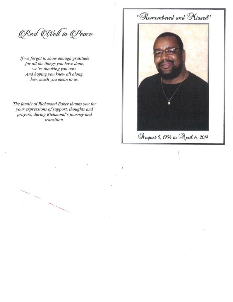 Richmond Baker Obituary