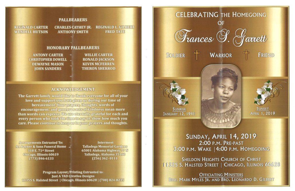 Frances Garrett Obituary