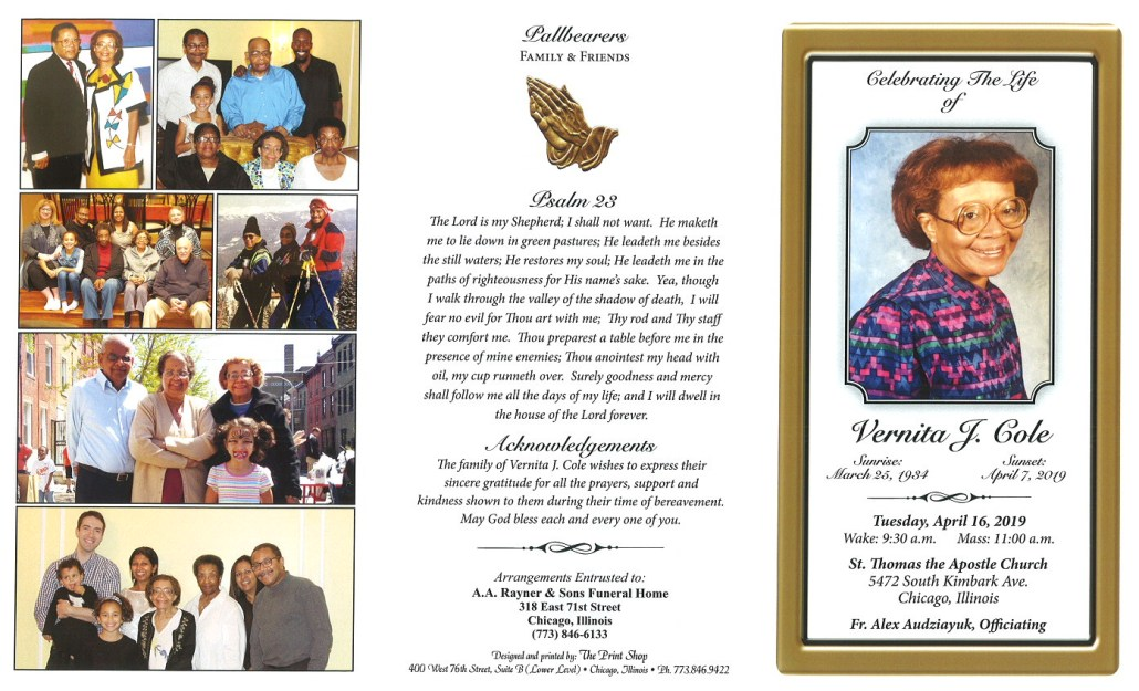 Vernita J Cole Obituary