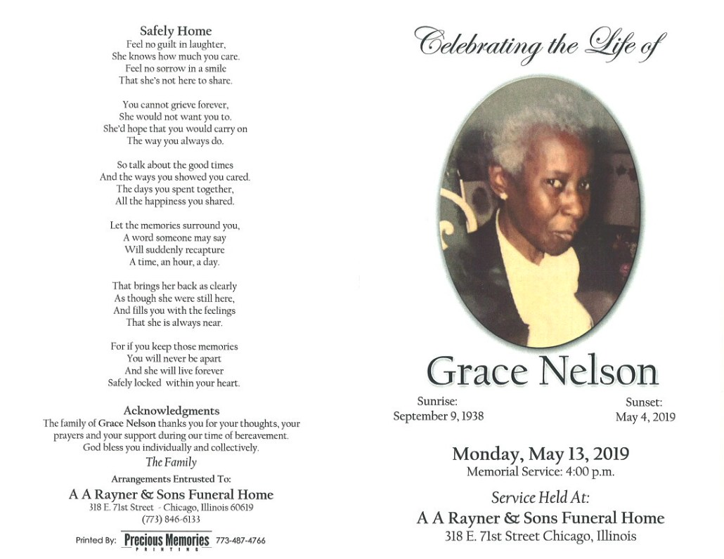 Grace Nelson Obituary