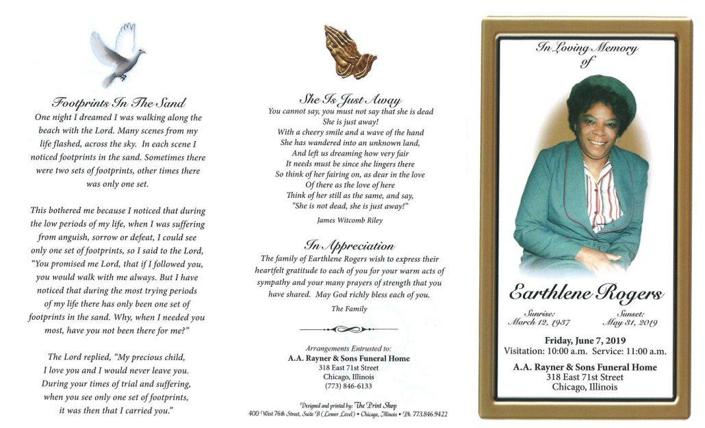 Earthlene Rogers Obituary