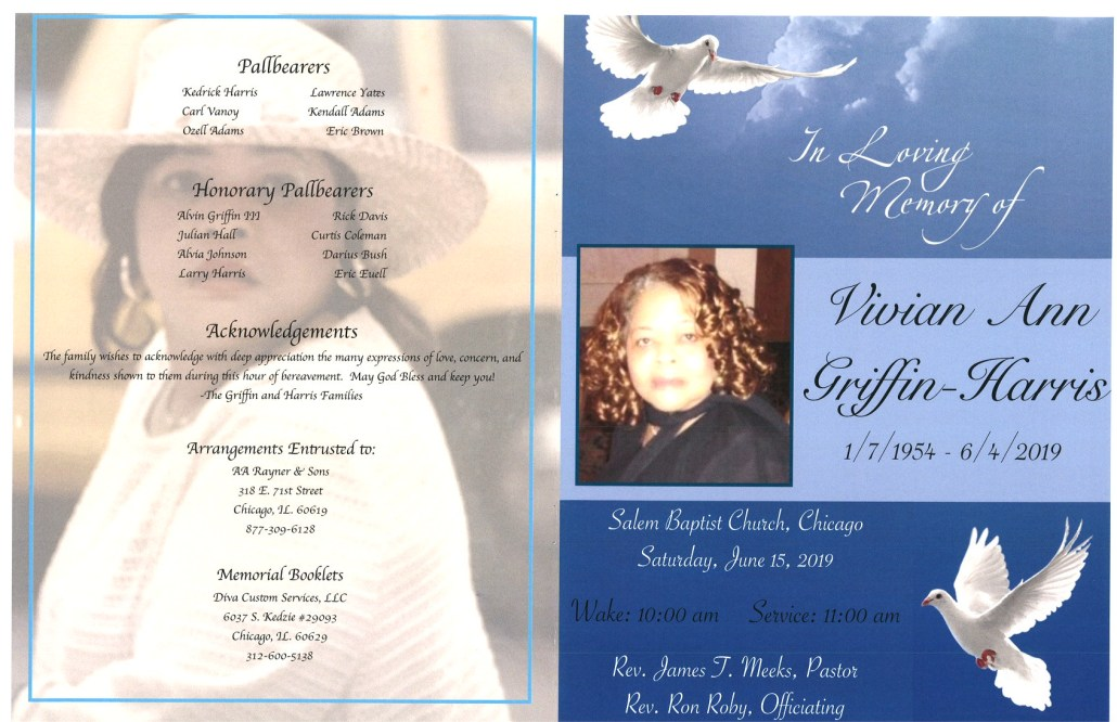 Vivian Ann Griffin Harris Obituary