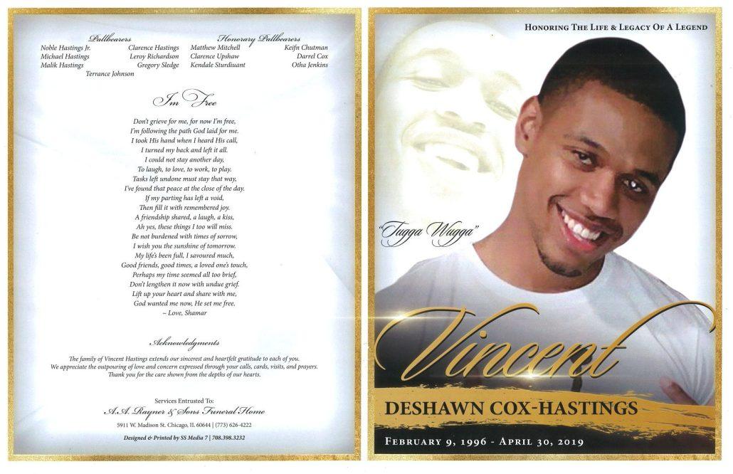 Vincent Cox Hastings Obituary