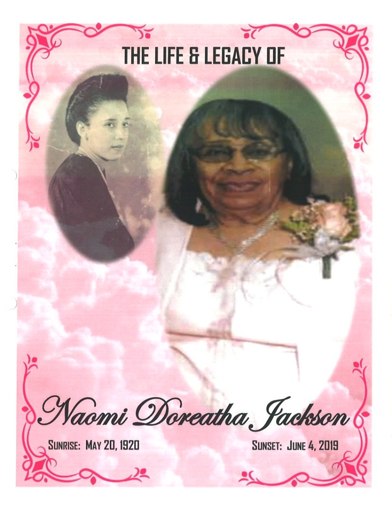 Naomi Doreatha Jackson Obituary