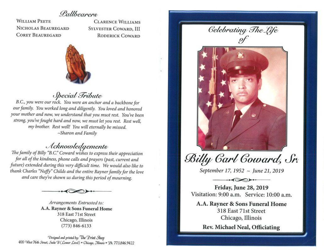Billy Carl Coward Sr Obituary