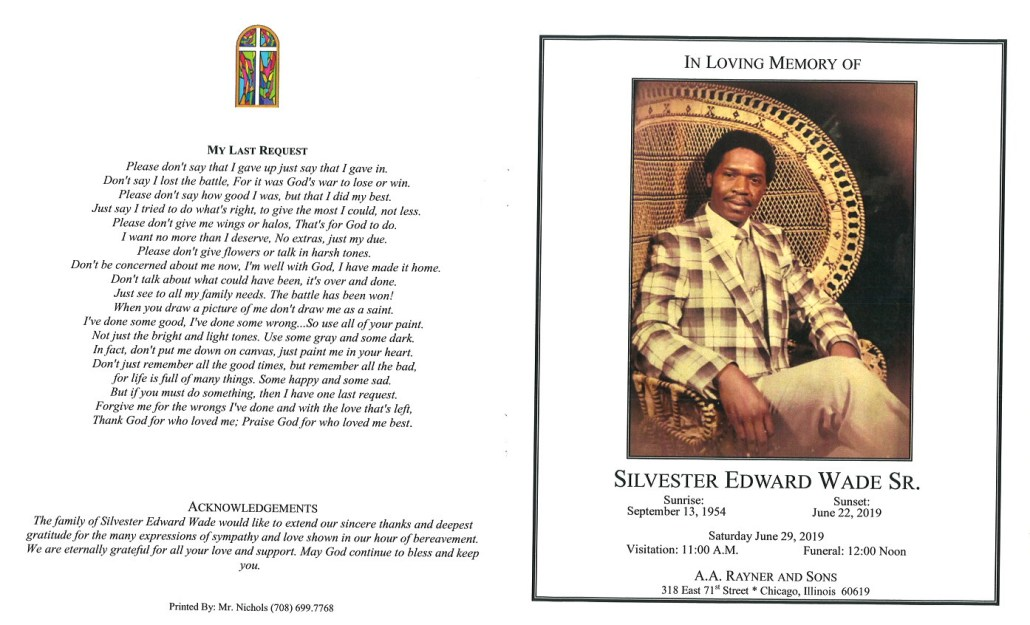 Silvester Edward Wade Sr Obituary