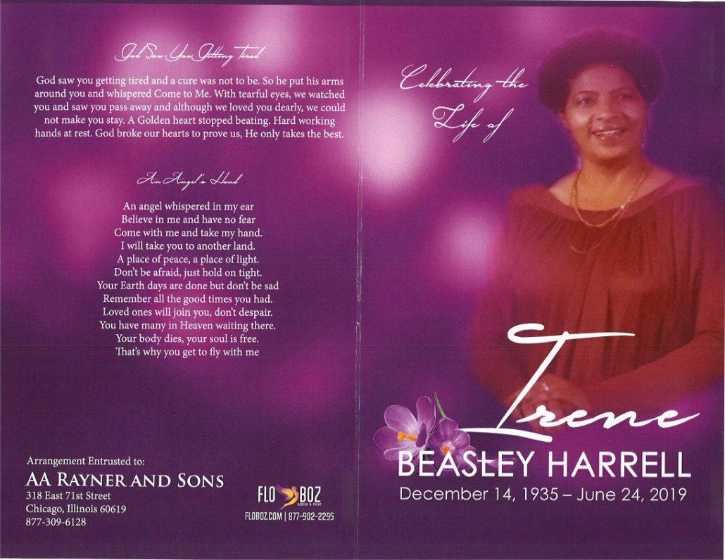 Irene Beasley Harrell Obituary