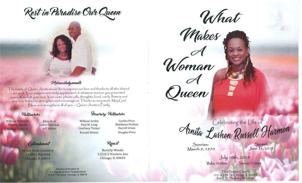 Arnita Harmon Obituary
