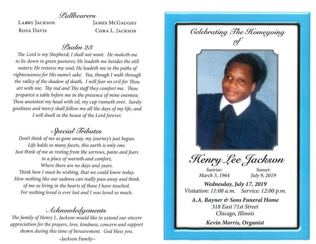 Henry Lee Jackson Obituary