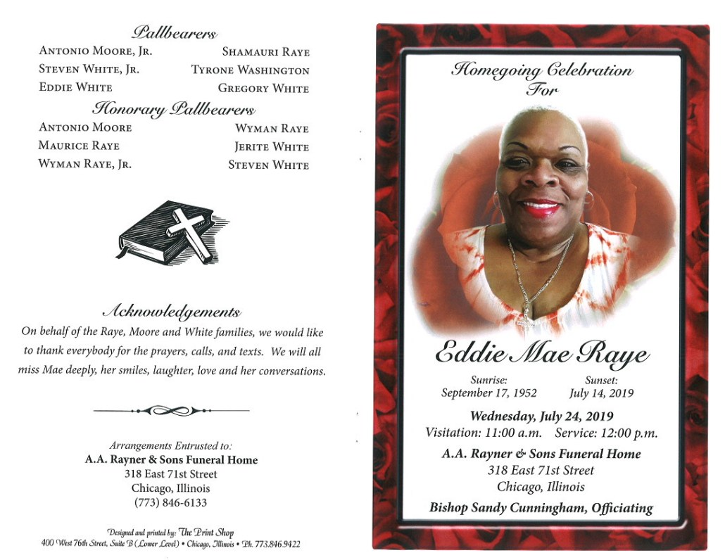 Eddie Mae Raye Obituary