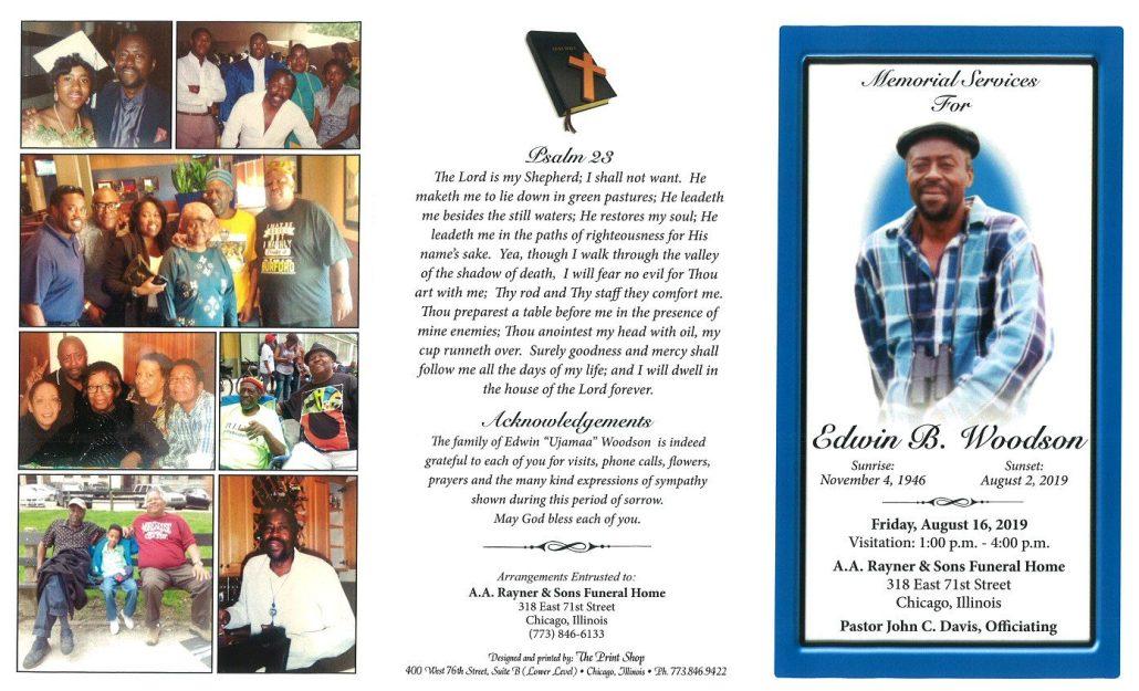 Edwin B Woodson Obituary