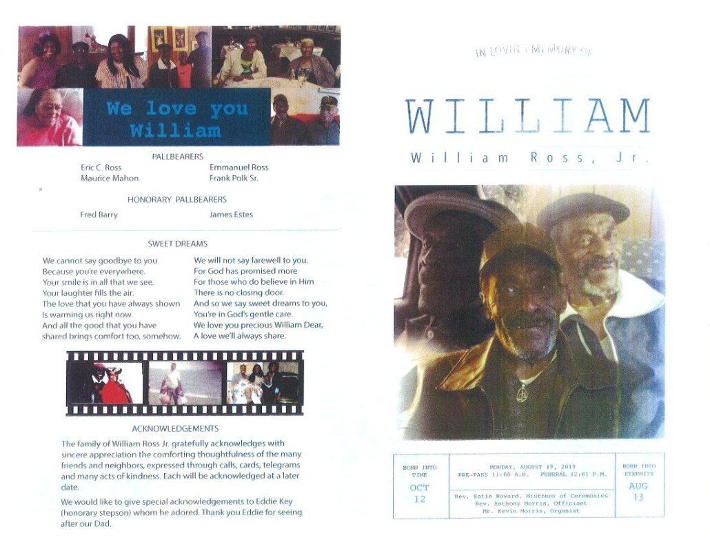 William Ross Jr Obituary