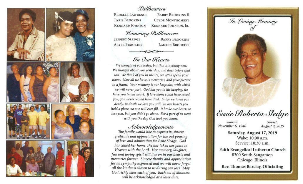 Essie Roberta Sledge Obituary