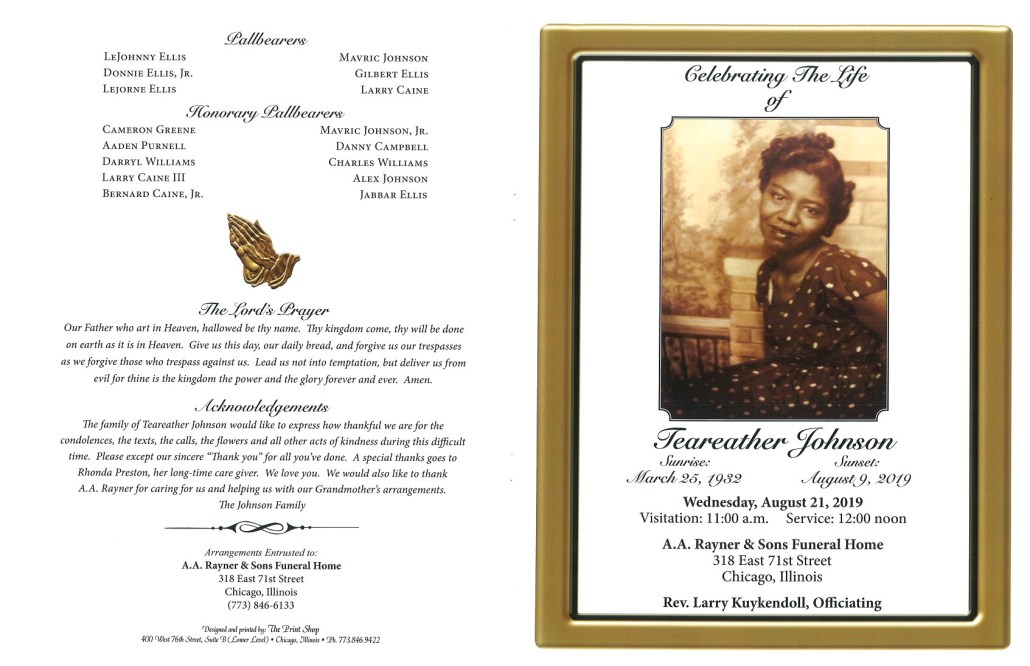 Teareather Johnson Obituary