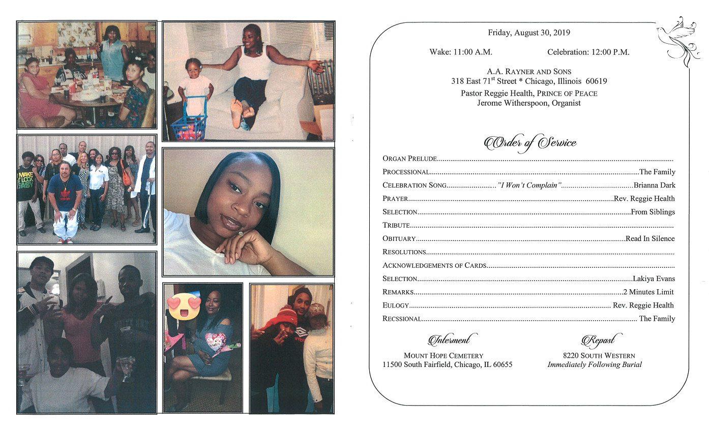 Lakeshia M Sanders Obituary | AA Rayner and Sons Funeral Home