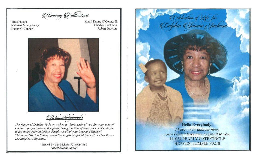 Delphia Y Jackson Obituary
