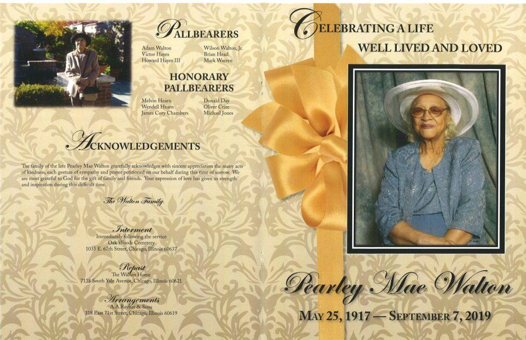 Pearley M Walton Obituary