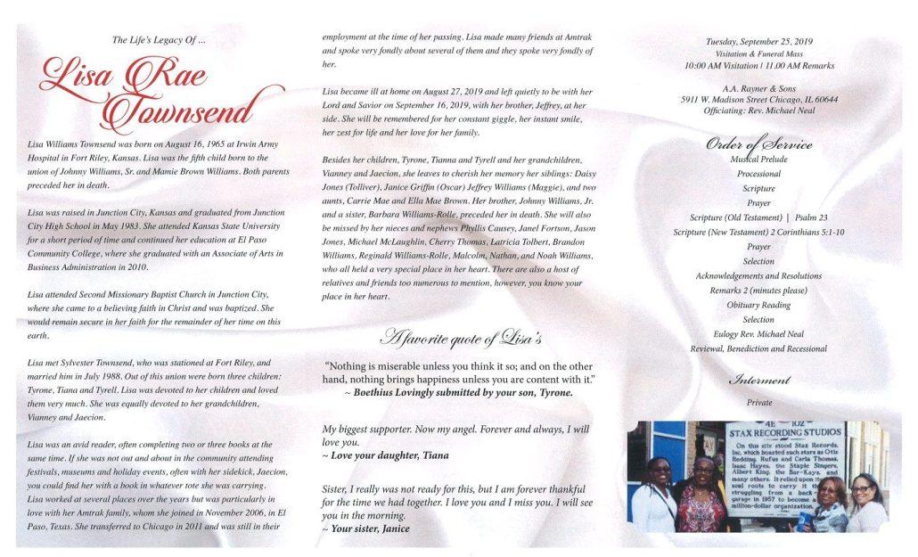 Lisa Rae Townsend Obituary